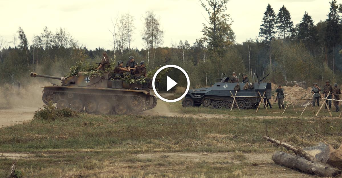 VIDEO: Otrā pasaules kara kauju rekonstrukcija Tīsu armijas daļā 15.09.2018